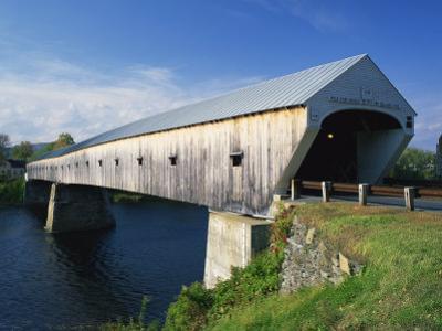 Cornish-Windsor Bridge, the Longest Covered Bridge in the Usa, Vermont, New England, USA by Rainford Roy
