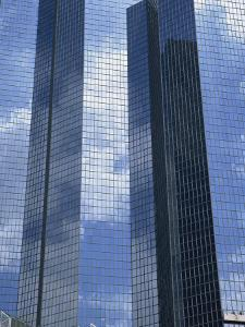 Glass Exterior of a Modern Office Building, La Defense, Paris, France, Europe by Rainford Roy