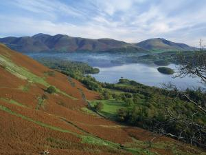 Keswick, Beside Derwent Water, with Skiddaw and Blencathra Behind, Lake District, Cumbria, England by Rainford Roy