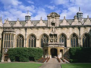 Oriel College, Oxford, Oxfordshire, England, United Kingdom, Europe by Rainford Roy