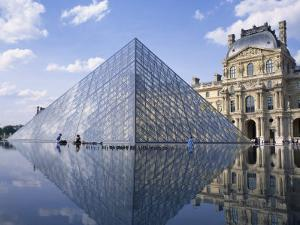 Pyramide and Palais Du Louvre, Musee Du Louvre, Paris, France, Europe by Rainford Roy