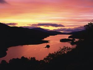 Queen's View at Dusk, Pitlochry, Tayside, Scotland, United Kingdom, Europe by Rainford Roy