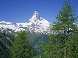 Snow Covered Peak of the Matterhorn in Switzerland, Europe by Rainford Roy