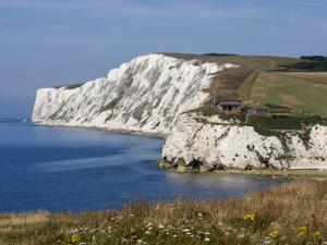 Tennyson Down, Black Rock and Highdown Cliffs from Freshwater Bay, Isle of Wight, England, UK by Rainford Roy