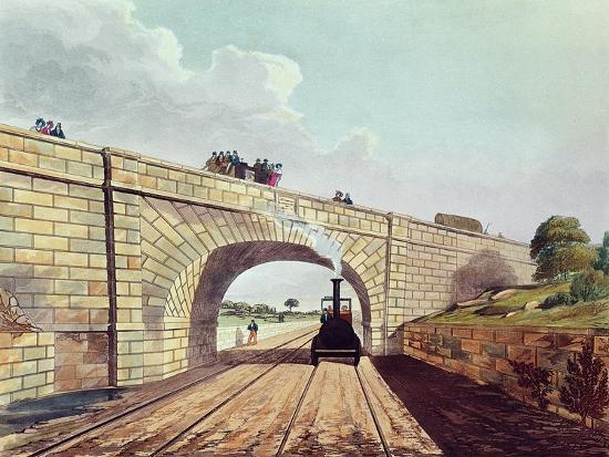 Rainhill Bridge, Plate 12 from Liverpool and Manchester Railway, Engraved by Henry Pyall-Thomas Talbot Bury-Giclee Print