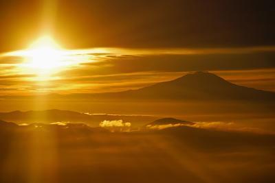 Rainier Sunset I-Brian Kidd-Photographic Print