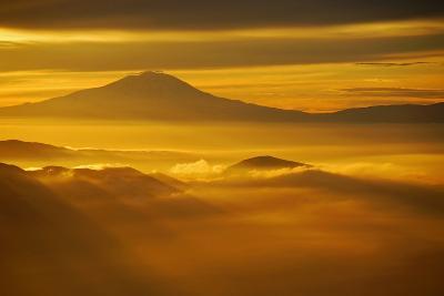 Rainier Sunset II-Brian Kidd-Photographic Print