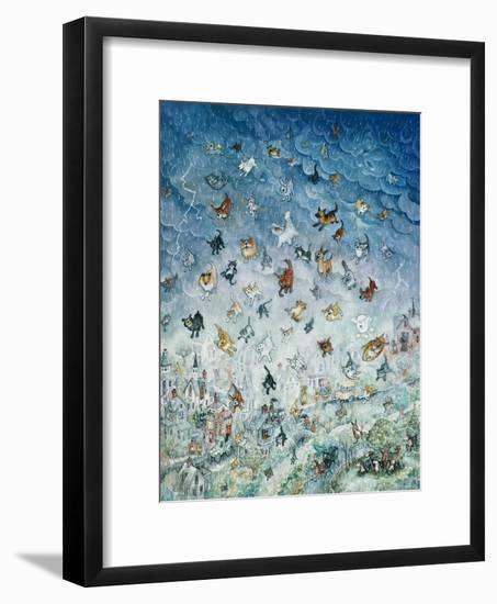 Raining Cats and Dogs-Bill Bell-Framed Premium Giclee Print