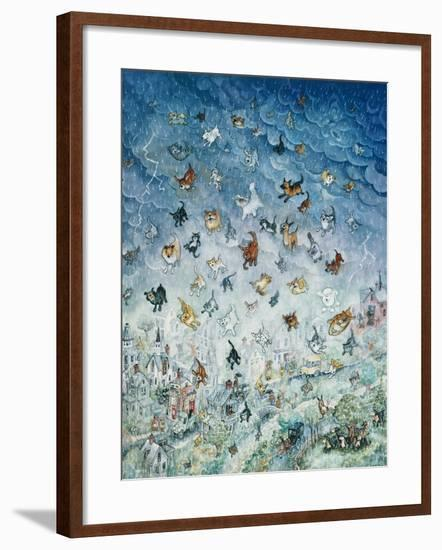 Raining Cats and Dogs-Bill Bell-Framed Giclee Print