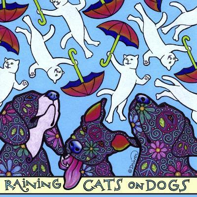 Raining Cats on Dogs-Denny Driver-Giclee Print