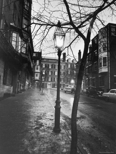 Rainy Beacon Hill St at Dusk During Series of Boston Stranglings-Art Rickerby-Photographic Print