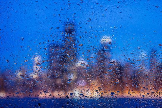 Rainy Chicago Lakefront Blues-Steve Gadomski-Photographic Print