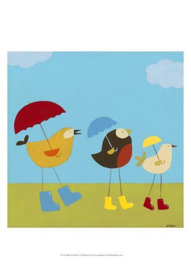 Rainy Day Birds I-Erica J^ Vess-Art Print