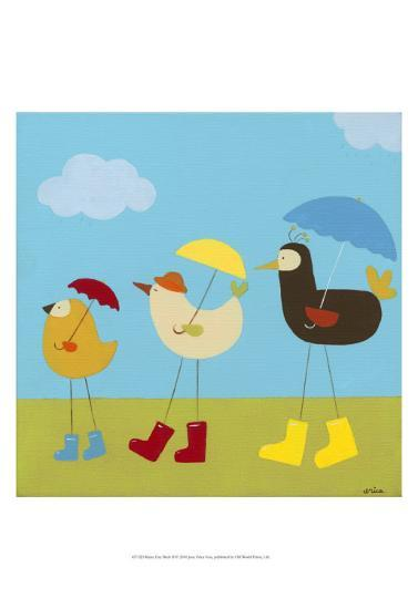 Rainy Day Birds II-Erica J^ Vess-Art Print