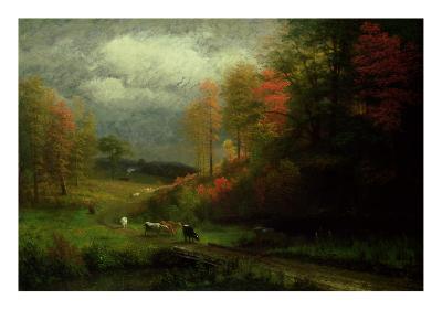 Rainy Day in Autumn, Massachusetts, 1857-Albert Bierstadt-Giclee Print