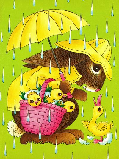 Rainy Easter - Playmate-Art Wallower-Giclee Print