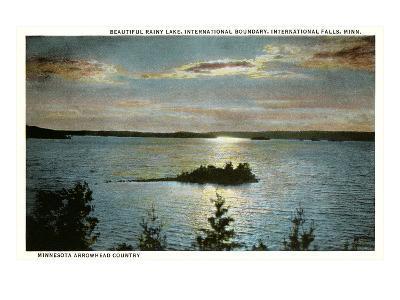 Rainy Lake, International Falls, Minnesota--Art Print