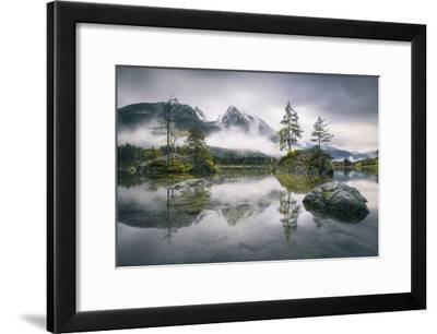 Rainy Morning At Hintersee (Bavaria)-Dirk Wiemer-Framed Giclee Print