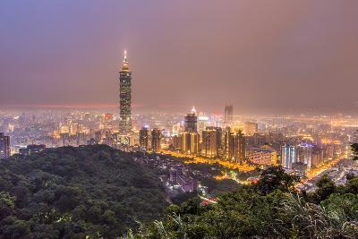 Rainy Taipei 101-Sharleen Chao-Photographic Print