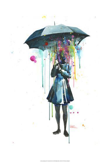 Rainy-Lora Zombie-Art Print
