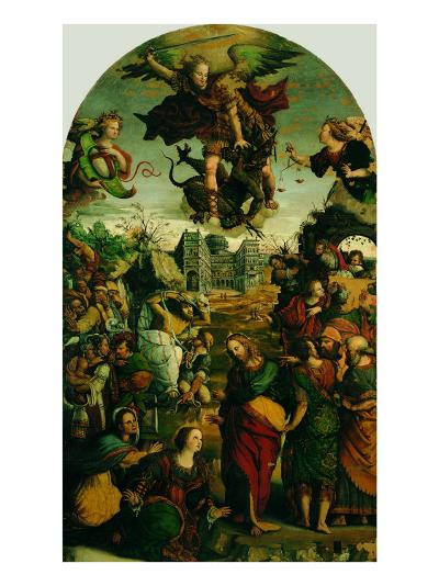 Raising of Lazarus and Fight Between St Michael and the Devil--Giclee Print