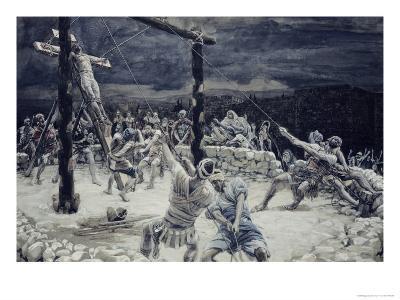 Raising of the Cross-James Tissot-Giclee Print