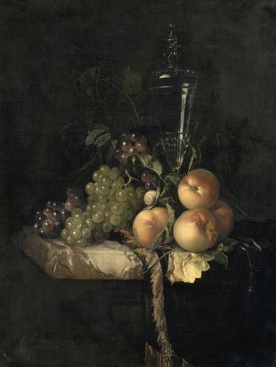 Raisins et pêches-Willem Van Aelst-Giclee Print