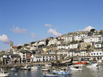 The Golden Hind and Other Boats in the Harbour, Brixham, Devon, England, United Kingdom
