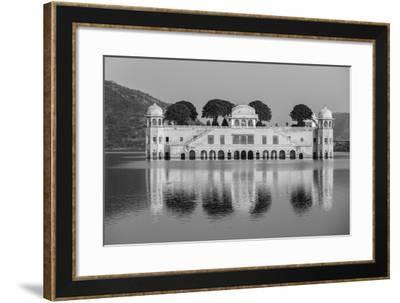 Rajasthan Landmark - Jal Mahal (Water Palace) on Man Sagar Lake on Sunset. Jaipur, Rajasthan, India-f9photos-Framed Photographic Print