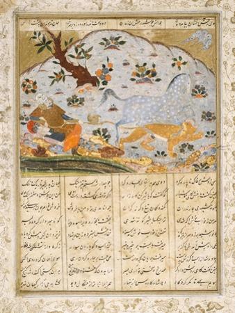 Raksh Saves Rustam from a Lioness
