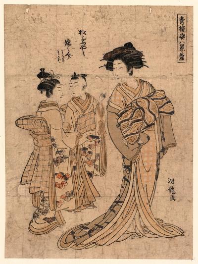 Rakugan Matsubaya Somenosuke-Isoda Koryusai-Giclee Print