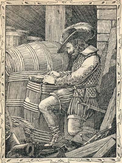 Raleigh in the Tower, 1902-Patten Wilson-Giclee Print