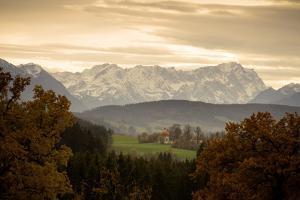 Germany, Bavaria, Alps-Foreland, Zugspitze, Chapel by Ralf Gerard