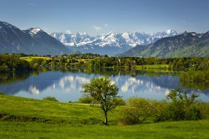 Germany, Bavaria, Foothills of the Alps with Lake Riegsee by Ralf Gerard
