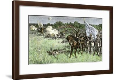 Rallying Confederate Troops under Bee, First Battle of Bull Run Battle, c.1861--Framed Giclee Print