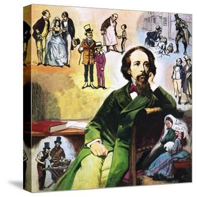Charles Dickens with His Characters