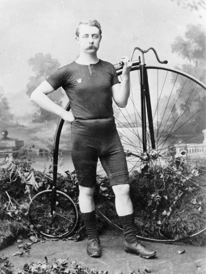 Ralph Clifton with a Penny Farthing, C1895--Photographic Print