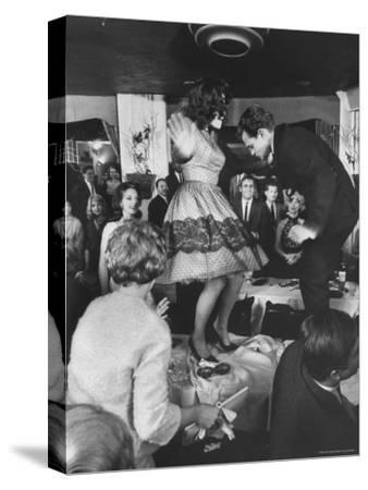 American Couples Dancing in Hollywood Nightclub