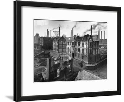 August Thyssen Steel Mill, Large Steel Works, Looming Smokily Behind Bomb-Ruined Town