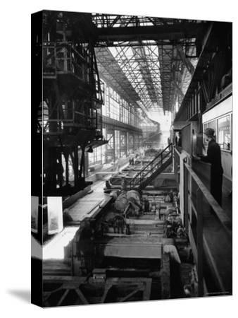 August Thyssen Steel Mill, Large Steel Works, Men Up on Platform
