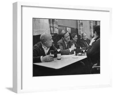 British Spy Thriller Writer David Cornwell Drinking Beer in Seamen's Pub