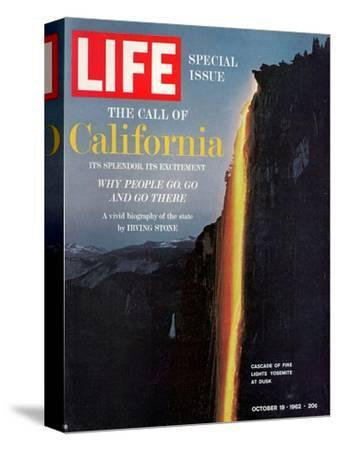 California, Embers Falling from Cliff at Yosemite at Dusk, October 19, 1962