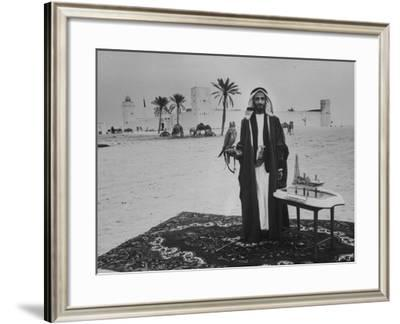 Camels Inspected by Sheik Shakhbut, Ruler of Oil-Rich Kingdom Abu Dhabi