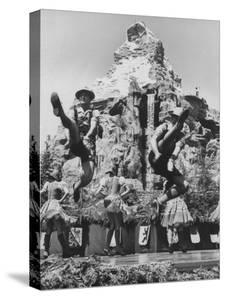 Dancers Do Matterhorn Act in Front of Artificial Slope at Disneyland by Ralph Crane