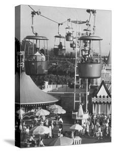 Francisco Pignatari and Girlfriend Barbara Cailleux Visiting Disneyland by Ralph Crane