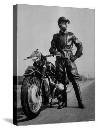 Front Shot of a German Made BMW Motorcycle and Rider