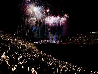 July 4, 1959: Fireworks Display at the Los Angeles Coliseum, California