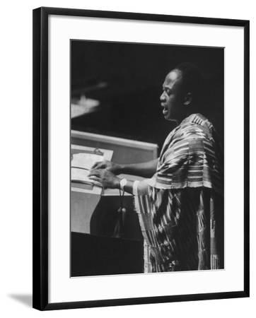 Kwame Nkrumah Speaking at United Nation General Assembly