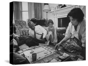 Lord Louis Mountbatten, with Daughter and Grandchildren Playing Monopoly by Ralph Crane