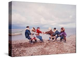 Native Alaskan Children at Play by Ralph Crane